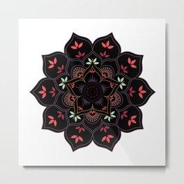 Lotus flower mandala in soft pastel colors Metal Print