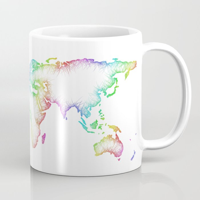 World Map Coffee Mug By Davidzydd Society6