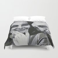 tim burton Duvet Covers featuring Elizabeth Taylor and Richard Burton by Robert E. Richards