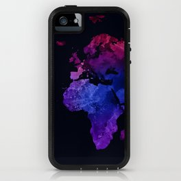 World Map Watercolor #4 iPhone Case