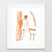 bath Framed Art Prints featuring bath by Annabelle Paré