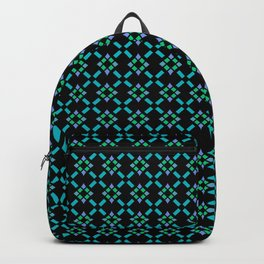 ABBEY midnight blue & emerald green & turquoise & perwinkle Backpack