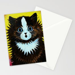 """Louis Wain's Cats """"Psychedelic Rainbow Cat"""" Stationery Cards"""