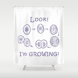 Funny Biology Memes Teacher Student Bacteria Gift Shower Curtain