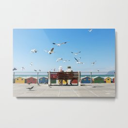 Lunch and the Beach Metal Print