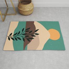 Earth ,Leaves, Doodle ,Flat ,Plant, Minimal, Drawn  Rug
