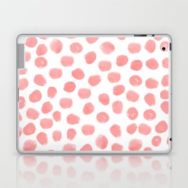 Natalia - abstract dot painting dots polka dot minimal modern gender neutral art decor Laptop & iPad Skin