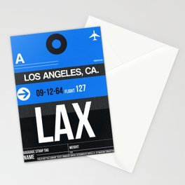 LAX Los Angeles Luggage Tag 3 Stationery Cards