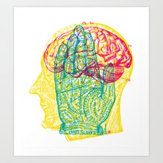 Hand and Brain Art Print