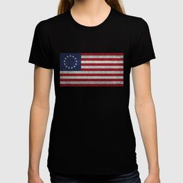 USA Betsy Ross flag - Vintage Retro Style T-shirt