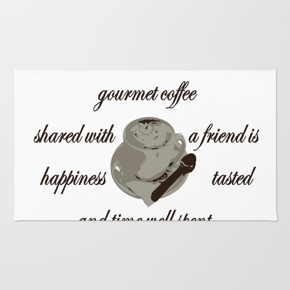 A Cup Of Gourmet Coffee Shared With A Friend Rug by Taiche RUG7824447
