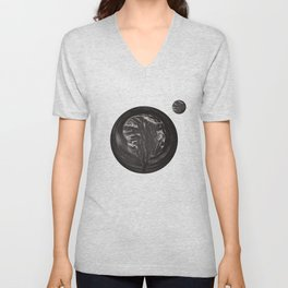 Curd tree and moon Unisex V-Neck