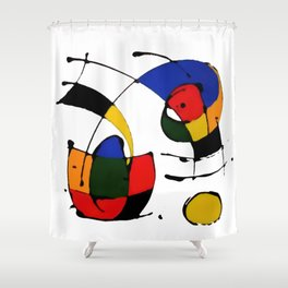 In the Style of Miro Shower Curtain