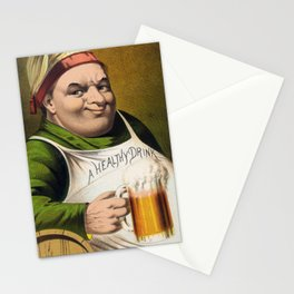Vintage Lager Beer Advertisement Stationery Cards