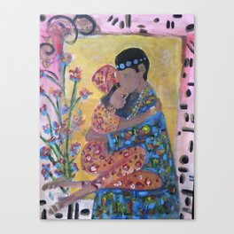 Ashante Love-holding each other down Canvas Print