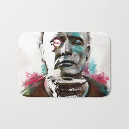 Marlon Brando under brushes effects Bath Mat