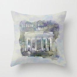 BERLIN Brandenburg Gate | watercolor Throw Pillow