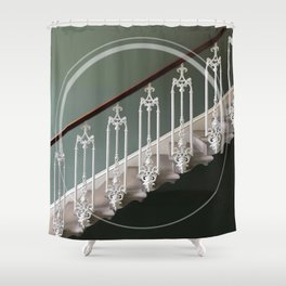 Stairway to heaven - circle graphic Shower Curtain