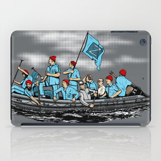 Team Zissou Crossing the Delaware iPad Case