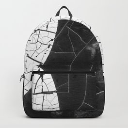 Black And White Binary Numbers In Cracked Paint Backpack