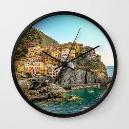 Cinque Terre, Manarola Wall Clock
