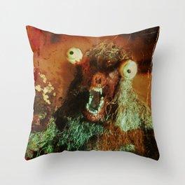 THE MUCK MONSTER Throw Pillow