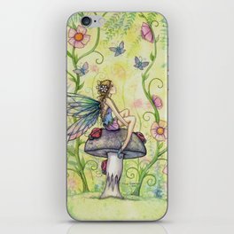 A Happy Place Flower Fairy Fantasy Art by Molly Harrison iPhone Skin