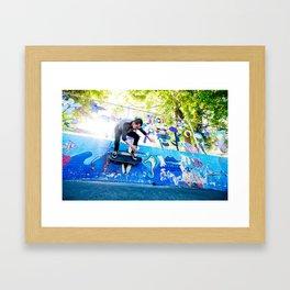 Colorful Wallride Framed Art Print