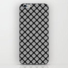 Black and White Custom Pattern iPhone Skin