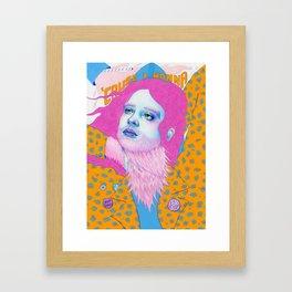 Natalie Foss x Deap Vally Framed Art Print