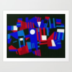 Lego: Abstract Art Print