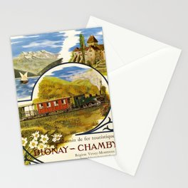 Advertisement chemin de fer touristique blonay Stationery Cards
