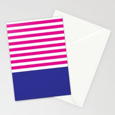Stripes - Indigo & Pink Stationery Cards