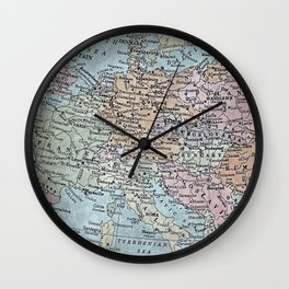 old map of Europe Wall Clock