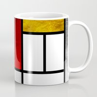 mondrian Mugs featuring Luxury Mondrian by Dizzy Moments