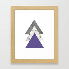 Ultra Violet Blossoms Arrows Framed Art Print