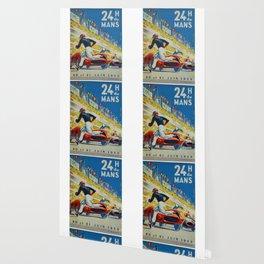 24hs Le Mans, 1959, vintage poster Wallpaper