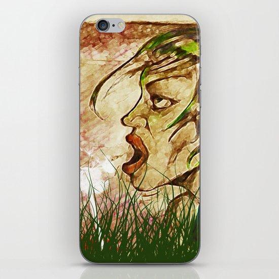 wind girl iPhone & iPod Skin