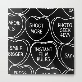 Polaroid Nerds Conversation Hearts - Art for Photographers Metal Print