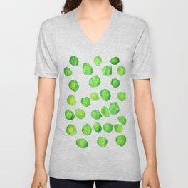 Lime dotted pattern Unisex V-Neck