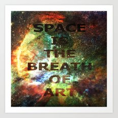 The Breath of Art Art Print