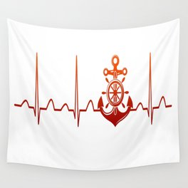 Sailor Heartbeat Wall Tapestry