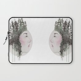 """""""Sometimes, even the snow is sad."""" Laptop Sleeve"""