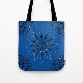 Central Mandala Blue Lapis Tote Bag