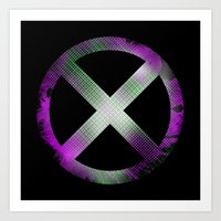 x men Art Prints featuring X-Men by Trey Crim