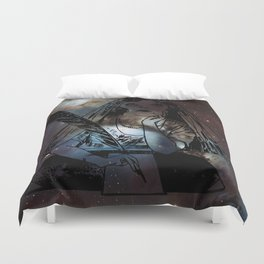 Galaxy Gypsy Writing a Letter to the Cosmos Duvet Cover