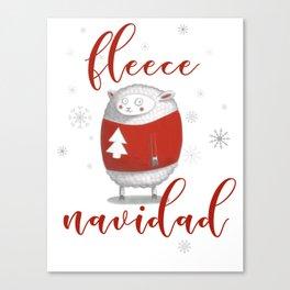 Fleece Navidad Canvas Print