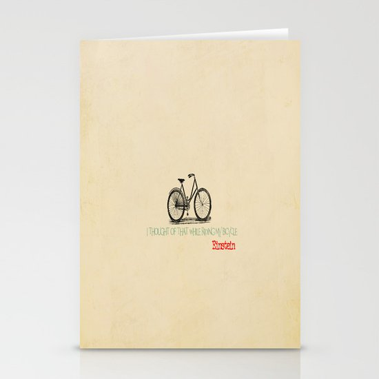 I Thought Of That While Riding My Bicycle Einstein Stationery Cards