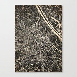 Vienna map ink lines 2 Canvas Print
