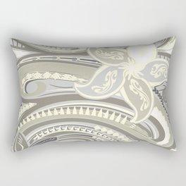 Polynesian Tribal Butter Yellow Threads Rectangular Pillow